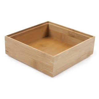"Core Home DO448 6"" X 6"" Natural Core Bamboo Drawer Organizer"
