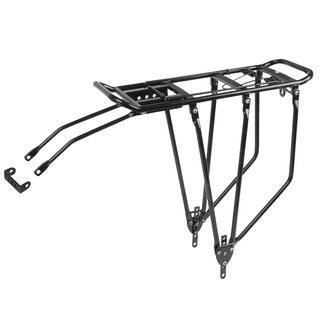 Ventura Screw-on IIIA Black Aluminum Rear Carrier Bicycle Rack