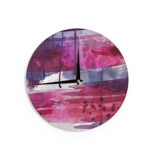 KESS InHouse Li Zamperini 'Purple' Purple Pink Wall Clock