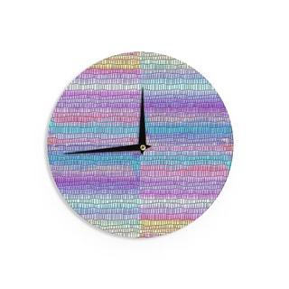KESS InHouse Vasare Nar 'Pillow Kaleidoscope ' Purple Orange Wall Clock
