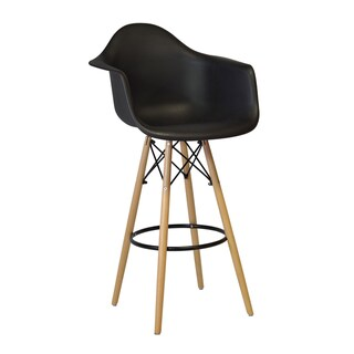 Mid Century Modern Eames Style 30-inch Bar Stool Chair