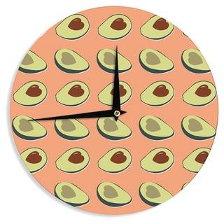 KESS InHouse KESS Original 'Avacado Love' Green Food Wall Clock
