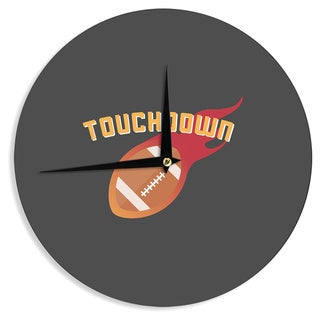 KESS InHouse KESS Original 'Touchdown XLVI' Sports Football Wall Clock
