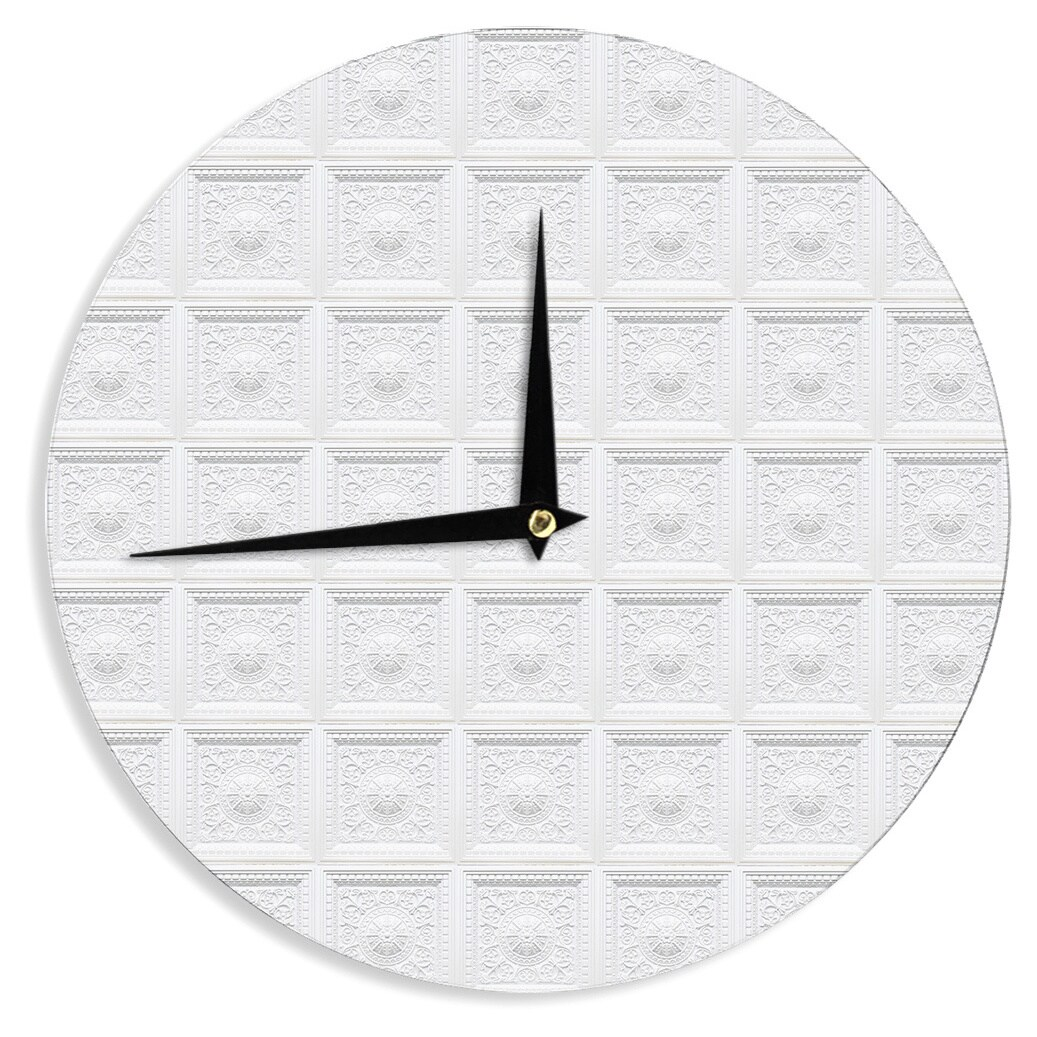 Kess InHouse Kess Original 'Palace Ceiling Tiles' White A...