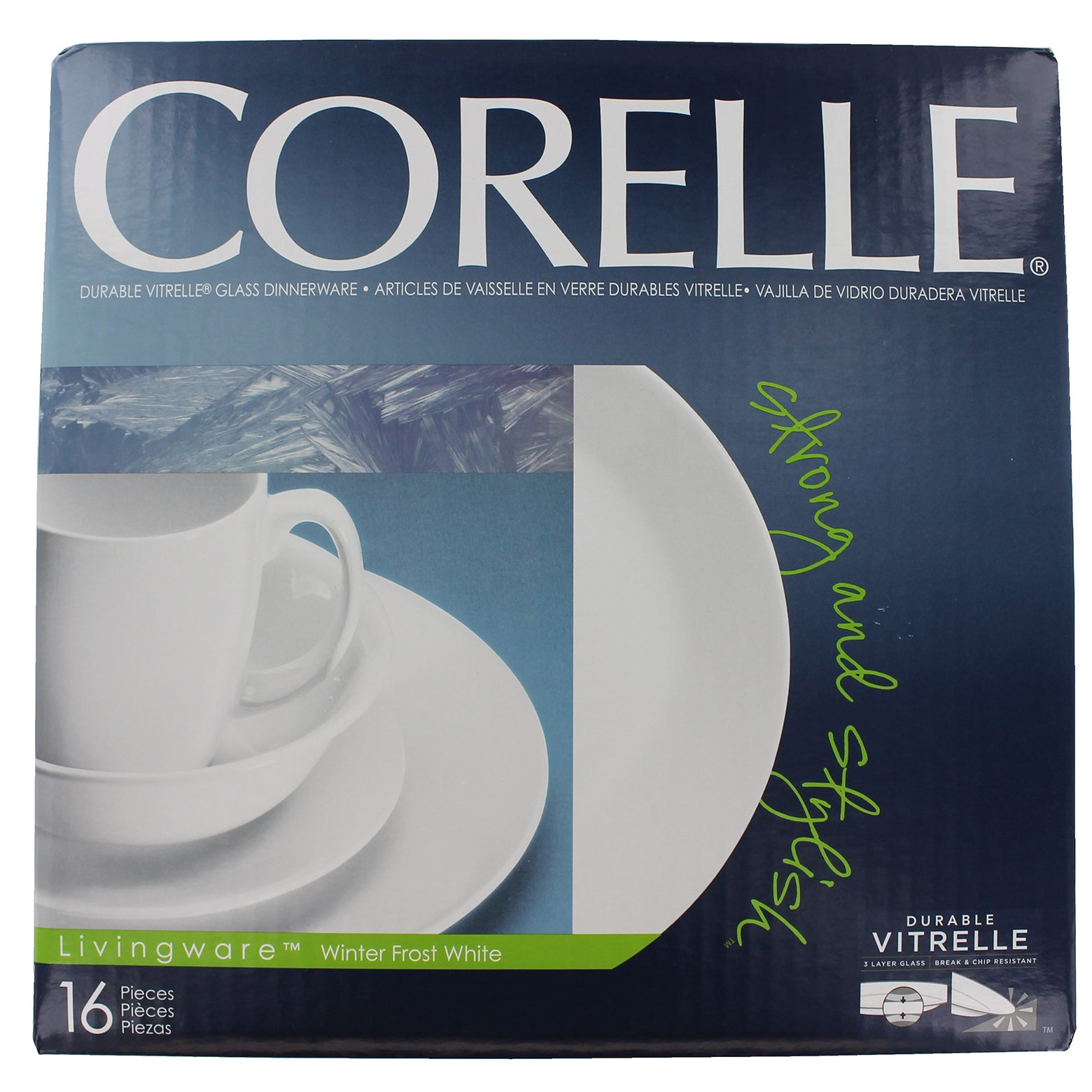 Corelle 6022003 16-piece Corelle Livingware White Winter ...