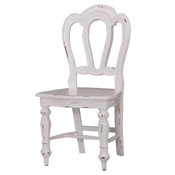 Napoleon White Heavy Distressed Dining Chairs (Set Of 2)
