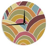 KESS InHouse Nacho Filella 'Arcs' Orange Digital Wall Clock