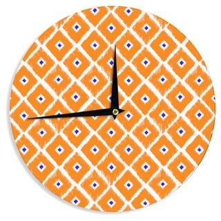 KESS InHouse Nick Atkinson 'The Lucky One' Orange Navy Wall Clock