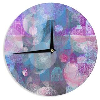 KESS InHouse Marianna Tankelevich 'Dream Houses' Wall Clock