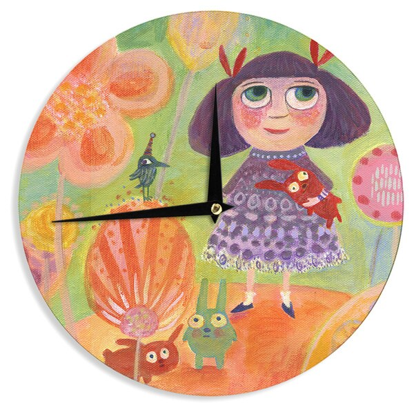 KESS InHouse Marianna Tankelevich 'Flowerland' Wall Clock