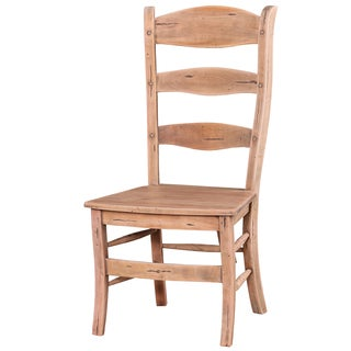 Bramble Co. Peg and Dowel Ladder Back Driftwood Mahogany Dining Chairs (Set of 2)