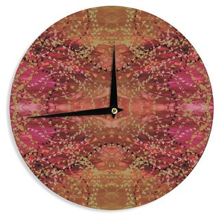KESS InHouse Nikposium 'Summer' Red Orange Wall Clock
