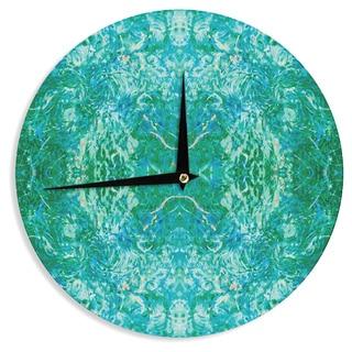 KESS InHouse Nikposium 'Eden' Teal Green Wall Clock