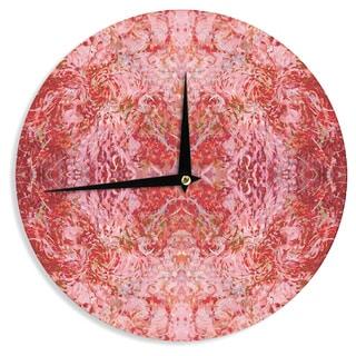 KESS InHouse Nikposium 'Chili' Pink Red Wall Clock