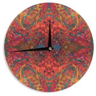 KESS InHouse Nikposium 'Red Sea' Orange Abstract Wall Clock