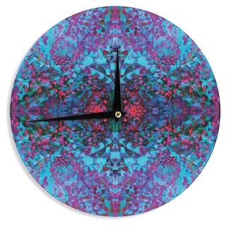 KESS InHouse Nikposium 'Boysenberry' Blue Purple Wall Clock
