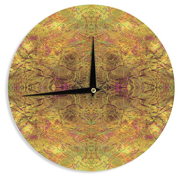 KESS InHouse Nikposium 'Goldenrod' Gold Yellow Wall Clock
