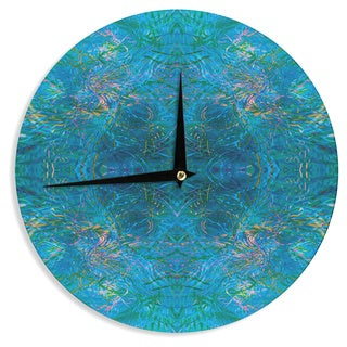 KESS InHouse Nikposium 'Clearwater' Blue Teal Wall Clock
