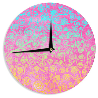 KESS InHouse Monika Strigel 'Get Lucky' Wall Clock
