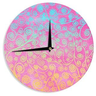 KESS InHouse Monika Strigel 'Get Lucky' Wall Clock