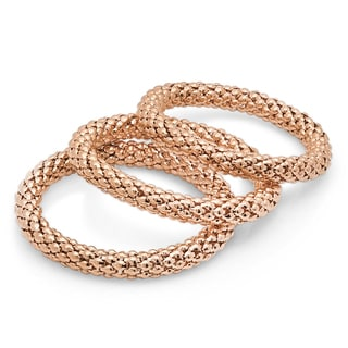 18k Rose Goldplated Bracelets (Set of 3)