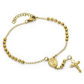 18k Goldplated Rosary Bracelet
