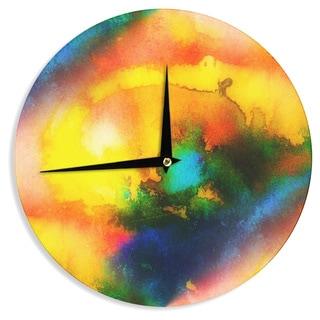 KESS InHouse No 'Good Vibrations' Abstract Multicolor Wall Clock