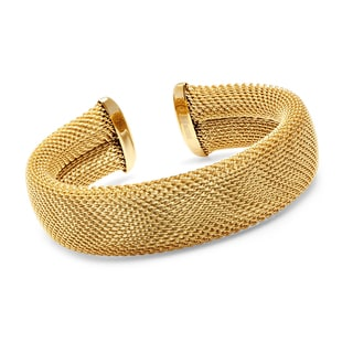 18k Goldplated Stainless Steel Mesh Cuff Bracelet