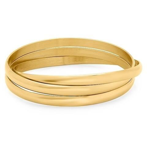 Piatella Ladies Stainless Steel Intertwined Bangle Bracelets in 3 Colors