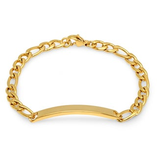 Kid's 18k Goldplated Stainless Steel Chain iD Bracelet