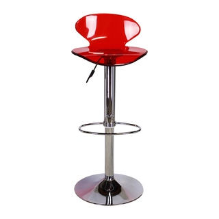 Design Tree Home Lucite Seat Adjustable Swivel Bar Stool