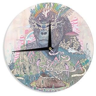 KESS InHouse Mat Miller 'Ceremony' Fantasy Gorilla Wall Clock
