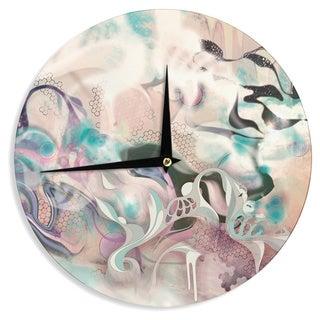 KESS InHouse Mat Miller 'Fluidity' Wall Clock