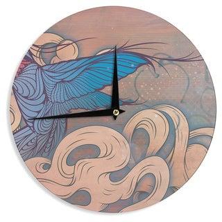 KESS InHouse Mat Miller 'The Aerialist' Wall Clock
