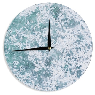 KESS InHouse Will Wild 'Frost' Blue Nature Wall Clock