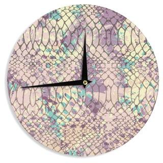 KESS InHouse Chickaprint 'Snakeskin' Pink Lavender Wall Clock