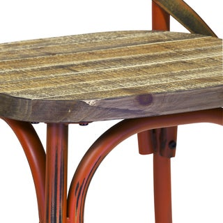 Handmade Rustic Reclaimed Crossback Dining Chair (China)