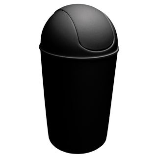 Dial Industries E2056K 56 Quart Black Swing Bin