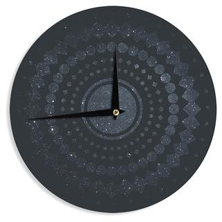 KESS InHouse Matt Eklund 'Lunar Confetti' Geometric Blue Wall Clock