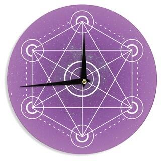 KESS InHouse Matt Eklund 'Dalaran' Geometric Purple Wall Clock
