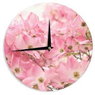 KESS InHouse Sylvia Cook 'Pink Dogwood' Floral Photography Wall Clock