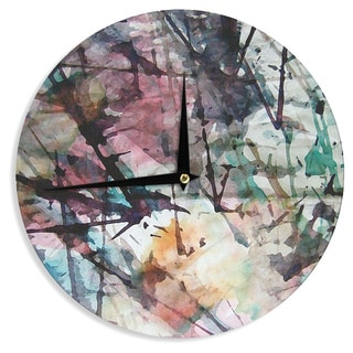 KESS InHouse Malia Shields 'Abstract Trees' Abstract Painting Wall Clock
