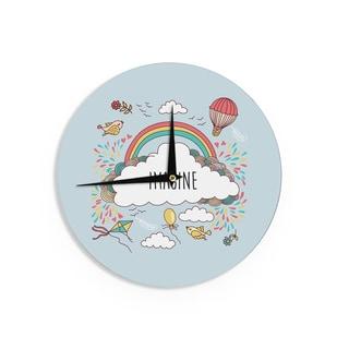 KESS InHouse KESS Original 'Imagine' Fantasy Illustration Wall Clock