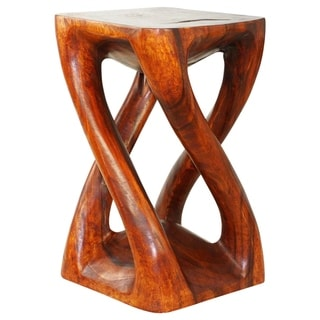 Handmade Vine Twist Stool 14 in x 23 in H Cherry Intensive Oil (Thailand)
