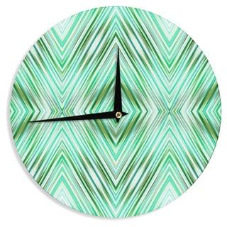 KESS InHouse Dawid Roc 'Green Mint Modern Ethnic ' Green Geometric Wall Clock