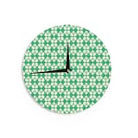 KESS InHouse KESS Original 'Celtic' Green Pattern Wall Clock