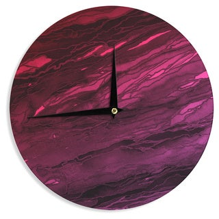 KESS InHouse Ebi Emporium 'Agate Magic - Red Pink Plum' Deep Purple Wall Clock