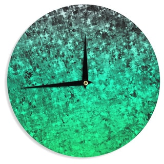 KESS InHouse Ebi Emporium 'Romance Me Green' Teal Glitter Wall Clock