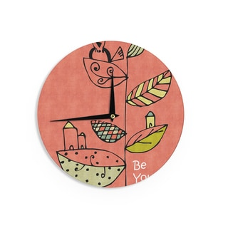 KESS InHouse Carina Povarchik 'Be You' Coral Kids Wall Clock