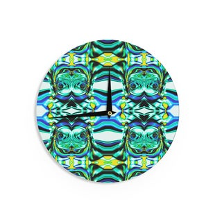KESS InHouse Dawid Roc 'Inspired By Psychedelic Art 5' Blue Abstract Wall Clock